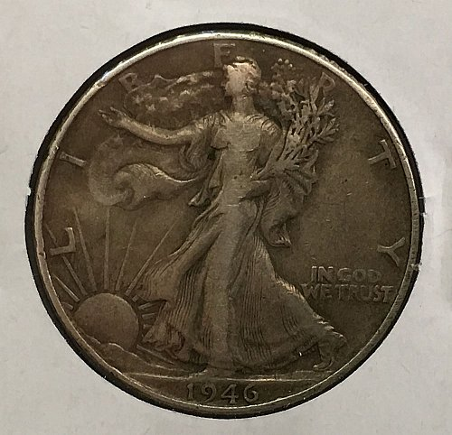 1946 P Walking Liberty Half Dollar Toned