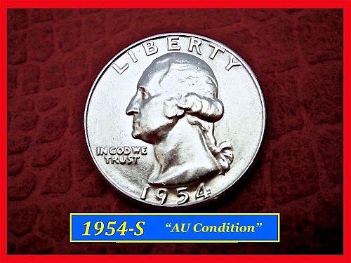 1954-S Silver Washington Quarter