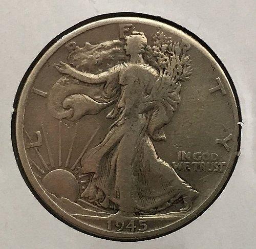 1945 D Walking Liberty Half Dollar