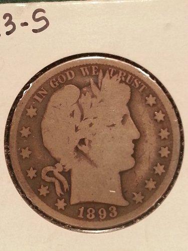 1893-S Barber Half