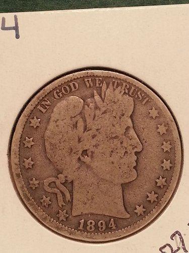 1894 Barber Half