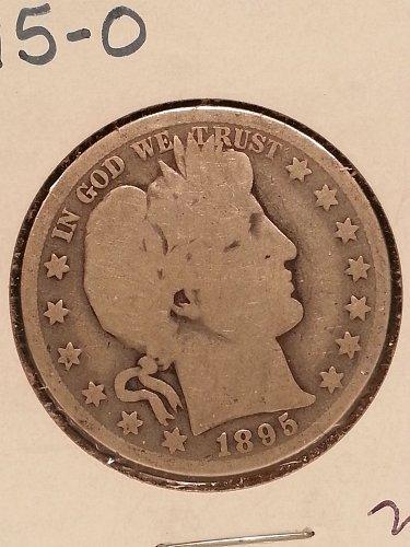 1895-O Barber Half