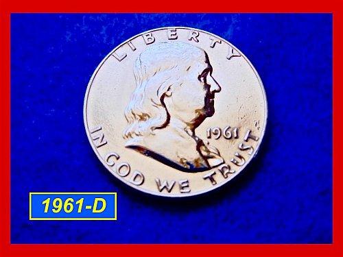1961-D  Franklin Half Dollar ––– Circulated