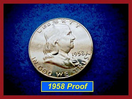 1958-Proof  Franklin Half Dollar •••