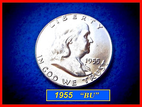 1955-P  Franklin Half Dollar ––– Uncirculated  •• (#1379)