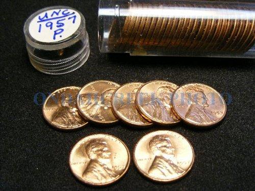 1957 Lincoln Cent Choice BU