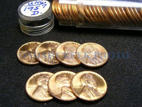 1957-D Lincoln Cent Choice BU