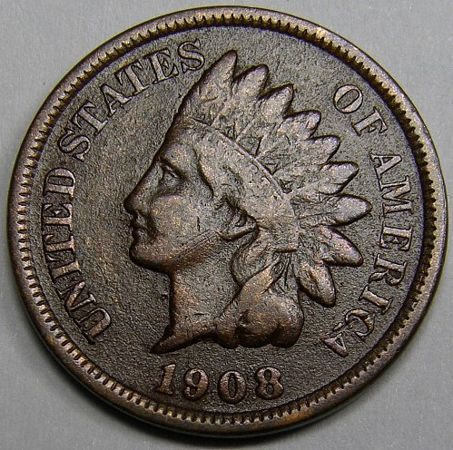 1908 P Indian Head Cent #16