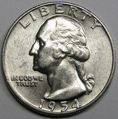1954 D Washington Quarter #5