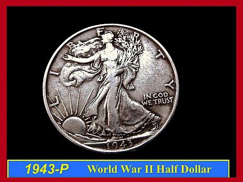 "1943-P  Liberty Walking Half Dollar ––– ""Circulated"""