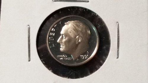 1991 Proof Roosevelt Dime