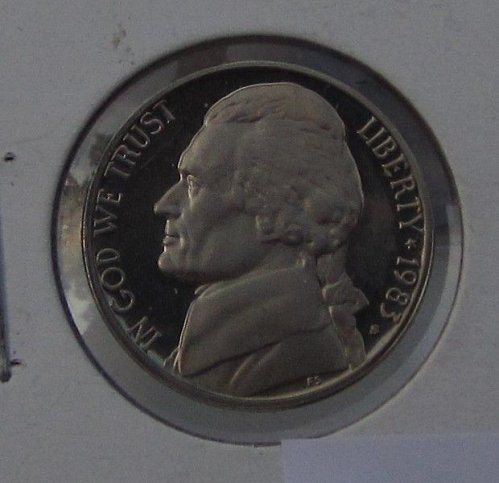 1983 S JEFFERSON NICKEL