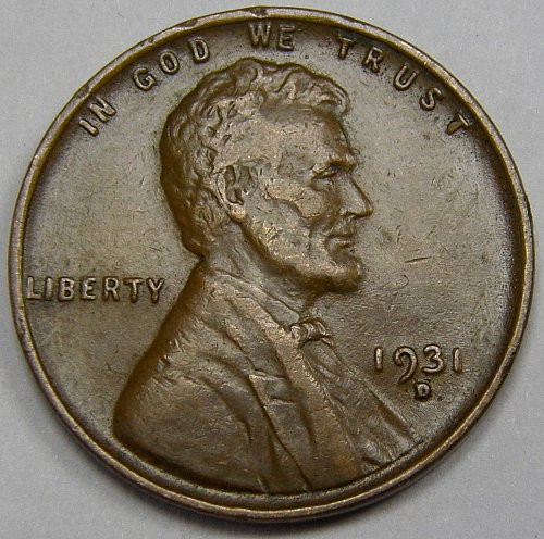1931 D Lincoln Wheat Cent #4