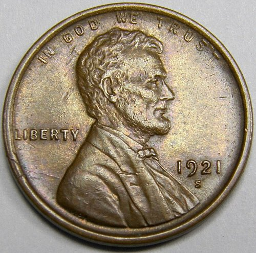 1921 S Lincoln Wheat Cent #2