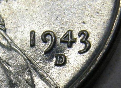 1943 D/D Lincoln Wheat Cent #8  RPM