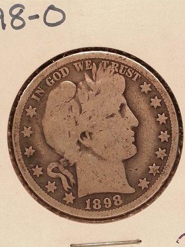 1898-O Barber Half