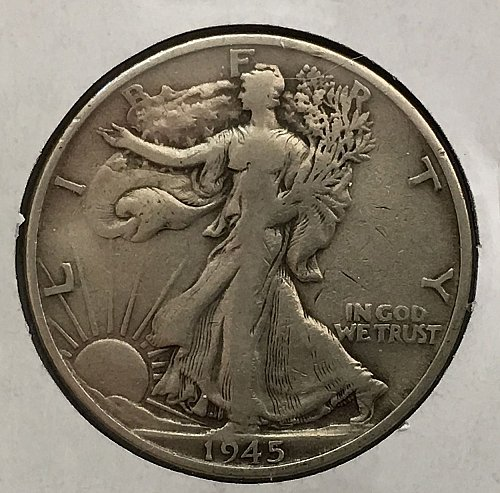 1945 S Walking Liberty Half Dollar