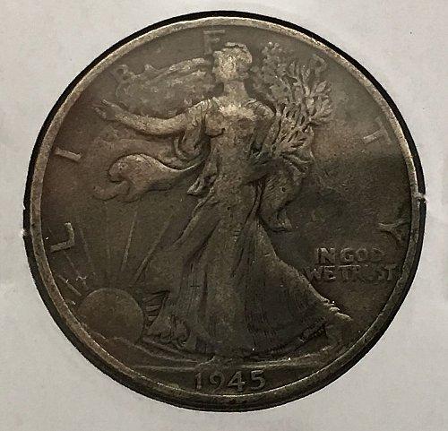 1945 S Walking Liberty Half Dollar - Toned