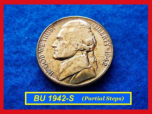BU 1942-S Silver War Nickel