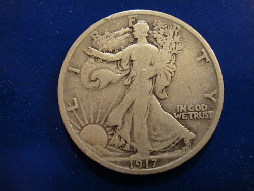 1917-S Reverse Walking Liberty Half Dollar Fine-12