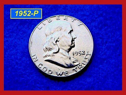 """1952-P  Franklin Half Dollar ––– """"XF-to-AU"""""""