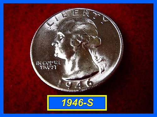 "1946-S Washington Quarter ⭕️ Frosty ""BU"""