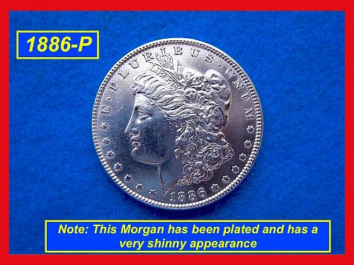 1886-P Morgan Silver Dollar