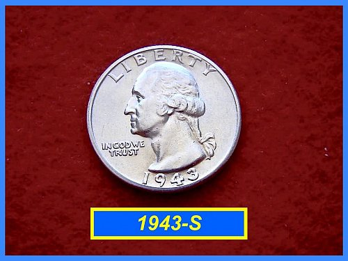 "1943-S Washington Quarter ⭕️ ""Circulated XF Condition"""