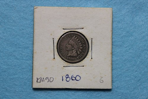 1860 P Indian Head Cent