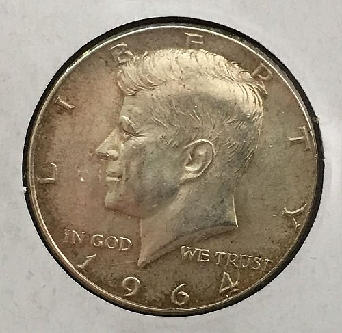 1964 P Kennedy Half Dollar - Toned