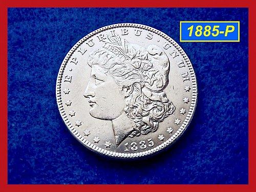 1885-P Morgan Silver Dollar 🎯 Circulated