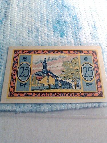 UNC - 1921 GERMAN 25 PFENNIG NOTGELD