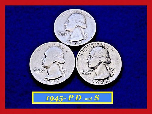 1945-PDS Washington Quarters ⭕️ Circulated