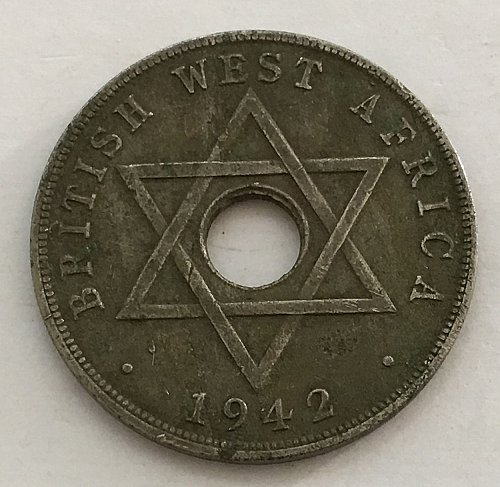 1942 BRITISH WEST AFRICA ONE PENNY