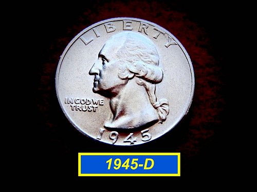 "1945-D Washington Quarter ⭕️ Frosty ""BU"""