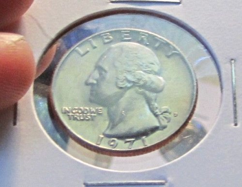 1971 D WASHINGTON QUARTER/ FROM MINT SET