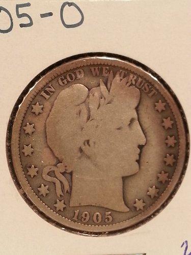 1905-O Barber Half