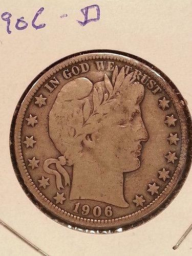 1906-D Barber Half