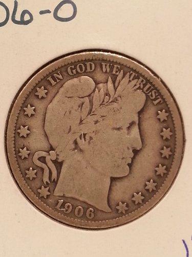 1906-O Barber Half