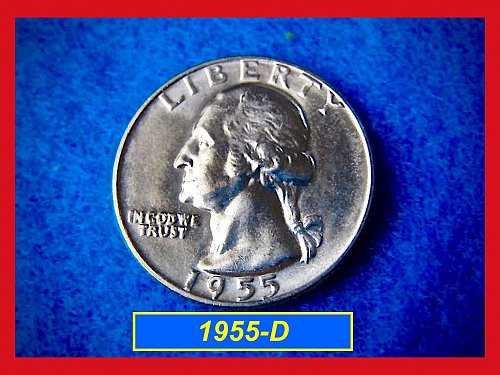 1955-D Silver Washington Quarter