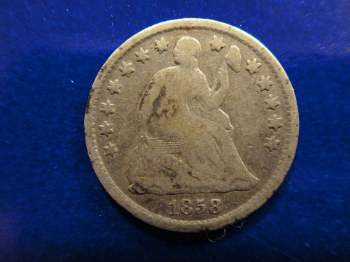 1858-O Seated Liberty Half Dime Fine-12 Nice Light Silver Hints of Olive Patina!