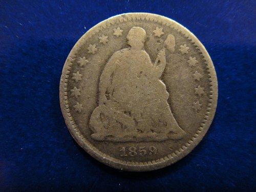 1859-O Seated Liberty Half Dime Good-4 Decent Steel Grey Patina!