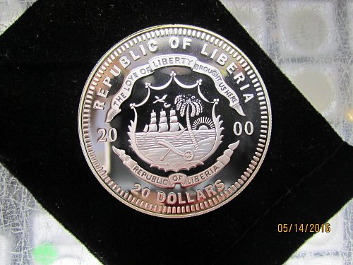 20 Dollar Liberian Bombing Fort Sumter Coin