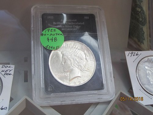 1922 PEACE DOLLAR /SLABBED/OFFERS
