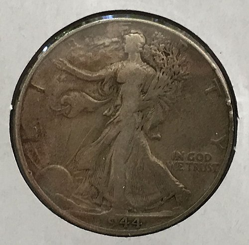 1944 P Walking Liberty Half Dollar - Toned