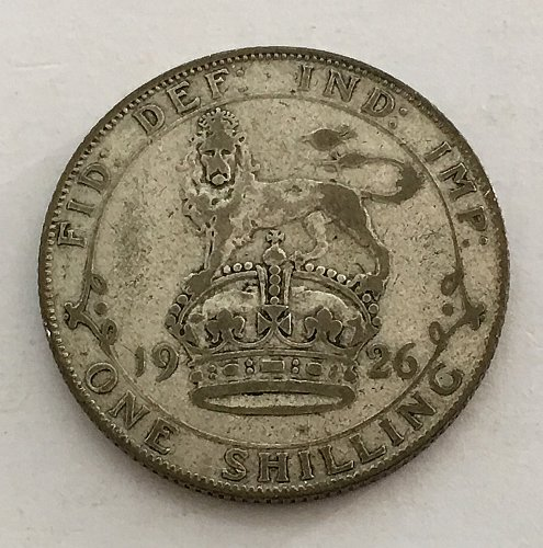 1926 Great Britain Shilling - Silver
