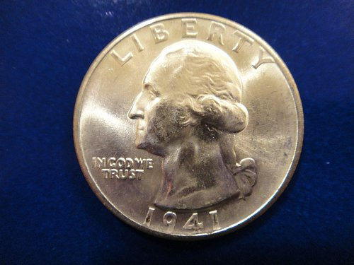 1941-D Washington Quarter MS-65 (GEM) BLAST WHITE!