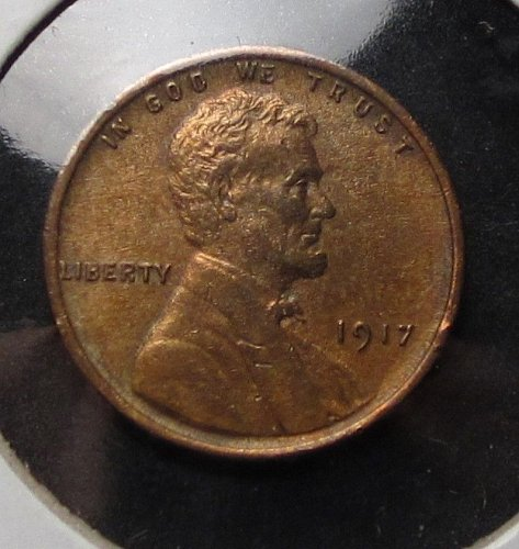 1917 Wheat cent Very High Grade Beautiful Colors