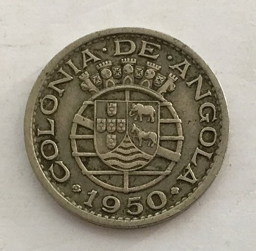 1950 PORTUGUESE ANGOLA 50 Centavos