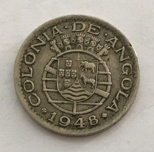 1948 PORTUGUESE ANGOLA 50 Centavos